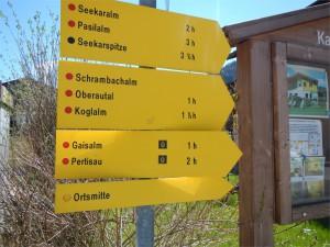 """Beschilderung der Alpenüberquerung mit dem """"Ü"""""""
